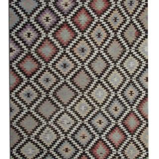 Antique Turkish Kilim Rug, handwoven Anatolian Oriental Rug- 165x312cm
