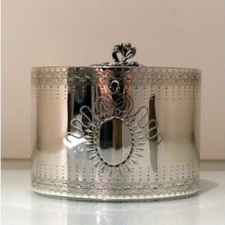 18th Century Antique George III Sterling Silver Tea Caddy London 1778 John Scofield