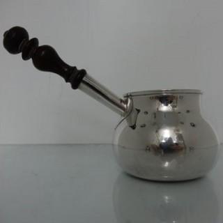Early 18th Century Antique Sterling Silver Large Brandy Pan London 1726 Thomas Farren