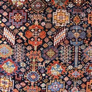 Antique Shekarlu Qasgai tribal carpet