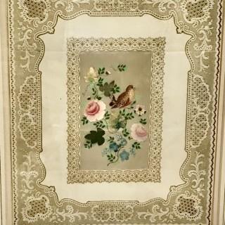 Nineteenth Century Framed Valentine Card