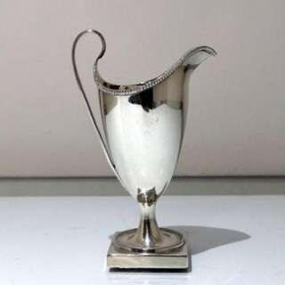18th Century Antique George III Sterling Silver Cream Jug London 1789 Henry Chawner