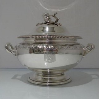 Early 19th Century Antique George III Sterling Silver Soup Tureen & Cover London 1837 Paul Storr