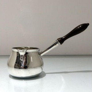 Mid 18th Century Antique George II Sterling Silver Brandy Pan London 1754 Thomas Cooke Ii & Richard Gurney
