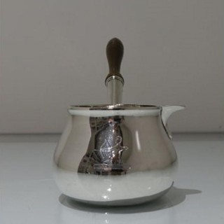 Mid 18th Century Antique George II Sterling Silver Brandy Pan London 1754 Thomas Cooke Ii & Richard Gurney