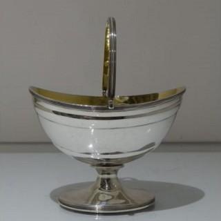18th Century Antique George III Sterling Silver Sugar Basket London 1797 John Emes
