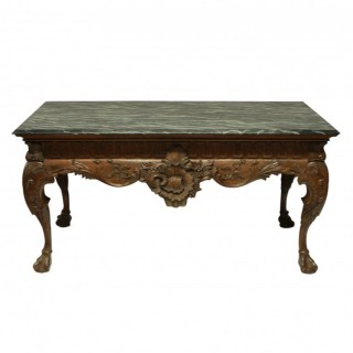 A LARGE GEORGE II STYLE MAHOGANY CENTRE TABLE