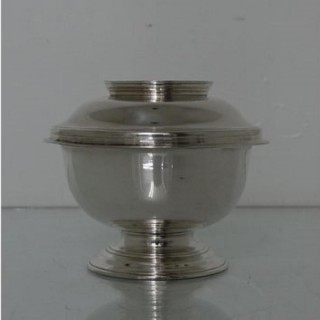 18th Century Antique George II Sterling Silver Sugar Bowl & Cover London 1734 Richard Gosling