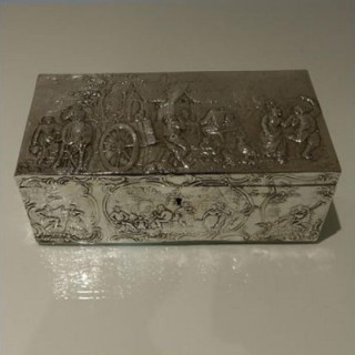 Early 20th Century Antique Silver Edwardian Import Marked Large Jewellery Casket Chester 1902 Berthold Muller