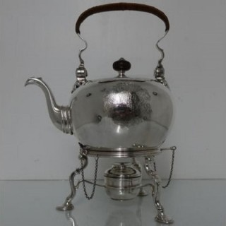 Antique Early 18th Century George II Sterling Silver Bullet Kettle London 1730 Edward Pocock