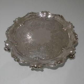 Early 20th Century Antique Edwardian Sterling Silver Salver London 1904 John & Edward Barnard