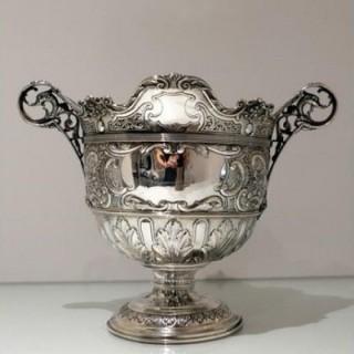 Early 20th Century Antique Edwardian Silver Bowl Glasgow 1902 John A Fettes