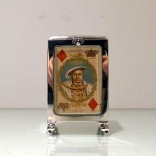 Early 20th Century Antique Edwardian Playing Card Box Birmingham 1906 Levi & Salaman