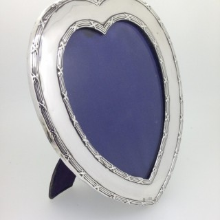 Large Silver Heart shaped Frame