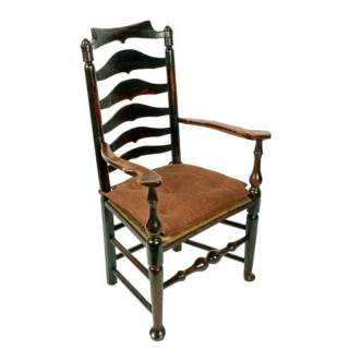 Georgian Elm Macclesfield Arm Chair
