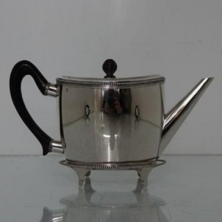 Early 19th Century Antique Silver Teapot On Stand Amsterdam 1805 Willem Diemont