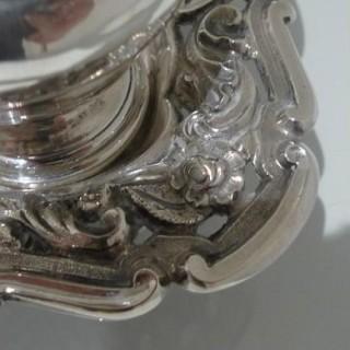 Mid 19th Century Portuguese Silver Inkstand Circa 1850 Lisbon (Maker Ifba)