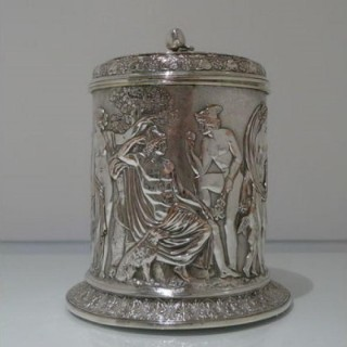 Mid 19th Century Antique Victorian Electro Formed Silver Plate Biscuit Box Elkington & Co Circa 1865