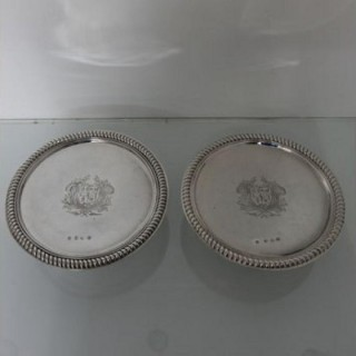 George I Silver Pair Of Tazzas London 1716 Thomas Parr I