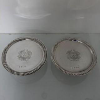 George I Silver Pair Of Tazzas London 1716 Thomas Parr I