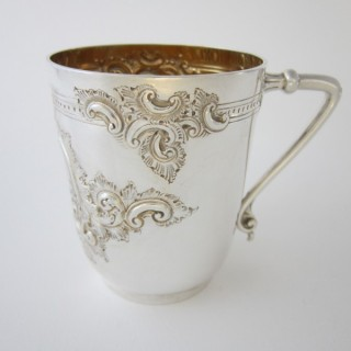 Antique Victorian Sterling Silver Half Pint Mug