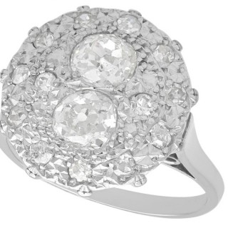 1.53ct Diamond and Platinum Dress Ring - Vintage Circa 1950