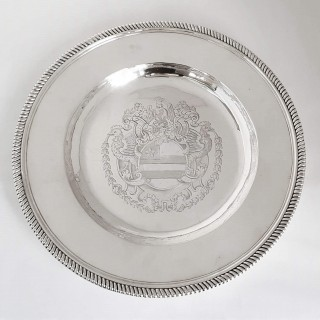 Queen Anne Silver Armorial Charger