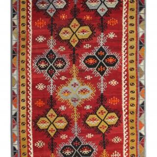Oriental Handwoven Kilim Rug, Traditional Flat-woven Carpet-142x8280