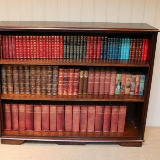 Large Oak Open Bookcase