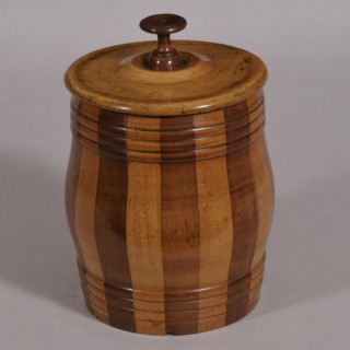 Antique Treen 19th Century Scottish Salt Box