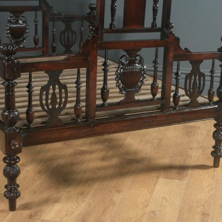 Antique 5ft Victorian Anglo-Indian King-Size Bombay Four Poster Bed (Circa 1880)