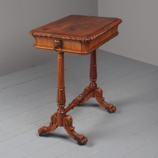 Antique Regency Mahogany Side Table