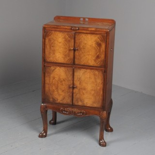 Walnut Lift Top Cabinet by Whytock and Reid, Edinburgh
