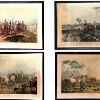 A series of Four Hunting Prints
