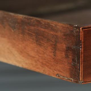 Antique English Georgian Regency Mahogany Inlaid Bow Front Side Table (Circa 1820)
