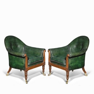 A Pair of Regency Period Armchairs Attributed to Gillows