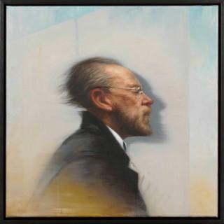 'Man following a Shadow' by Scottish artist Graeme Wilcox