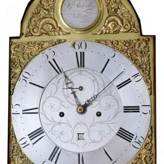 Fine rare mahogany longcase clock
