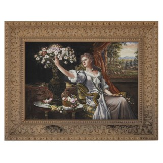 Large Renaissance Style Painted Porcelain Plaque