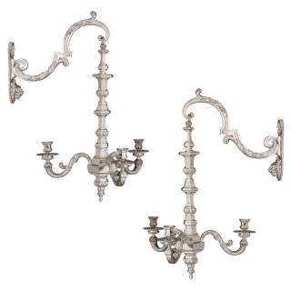 Two 19th Century French Neoclassical Style Three-Branch Wall Lights