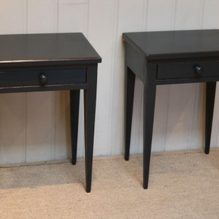 Pair Of Edwardian Painted Tables