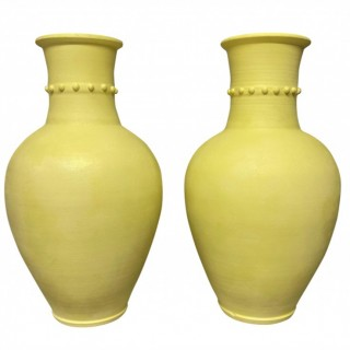 A LARGE PAIR OF FRENCH MID-CENTURY VASES
