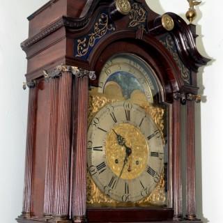 Fine 18th century mahogany lunar dial longcase clock