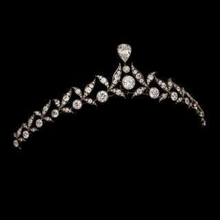 Antique Diamond Tiara in the Bandeau style by Hancocks c.1915