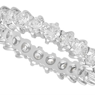 2.42ct Diamond and 18ct White Gold Full Eternity Ring - Vintage Circa 1980