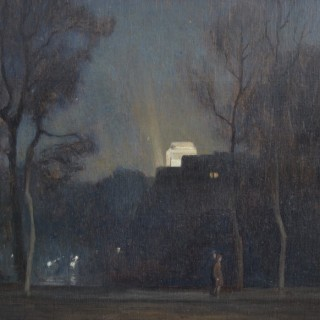 Rex Vicat Cole - Along the Mall at Night