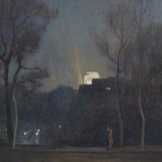Rex Vicat Cole - Along the Mall at Night
