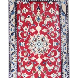Small Nain Rug Handwoven Carpet Persian Wool Area Rug 56x95cm