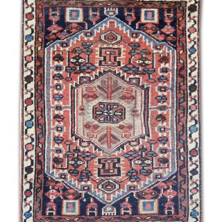 Handmade Oriental Persian Rug, Traditional Wool Area Rug 1940- 51x70cm