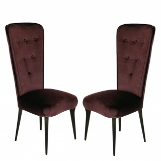 A PAIR OF ITALIAN BEDROOM CHAIRS